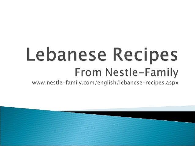 Delicious Lebanese Recipes