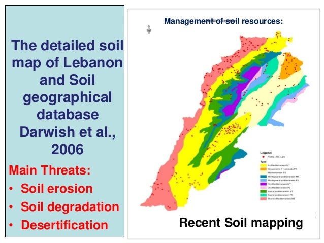 Lebanon for Natural resources soil information