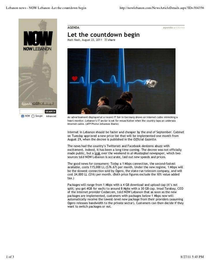 Lebanon news - NOW Lebanon -Let the countdown begin                                http://nowlebanon.com/NewsArticleDetail...
