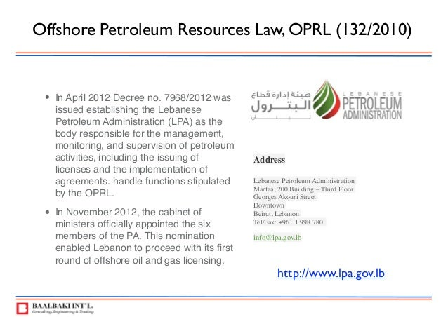 Lebanon oil & gas 2015