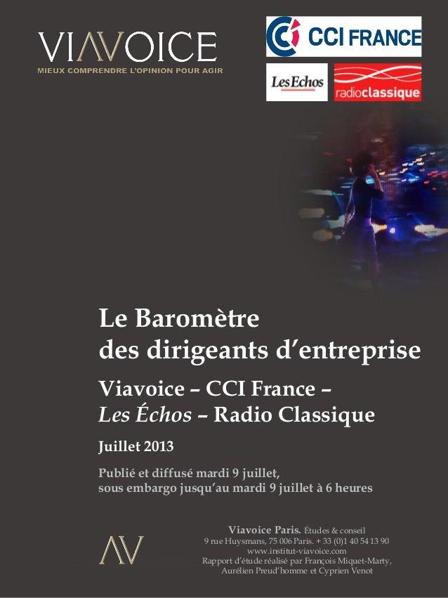1 Viavoice Paris. Études & conseil 9 rue Huysmans, 75 006 Paris. + 33 (0)1 40 54 13 90 www.institut-viavoice.com Rapport d...
