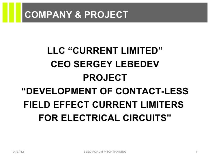 """COMPANY & PROJECT          LLC """"CURRENT LIMITED""""           CEO SERGEY LEBEDEV                 PROJECT      """"DEVELOPMENT OF..."""