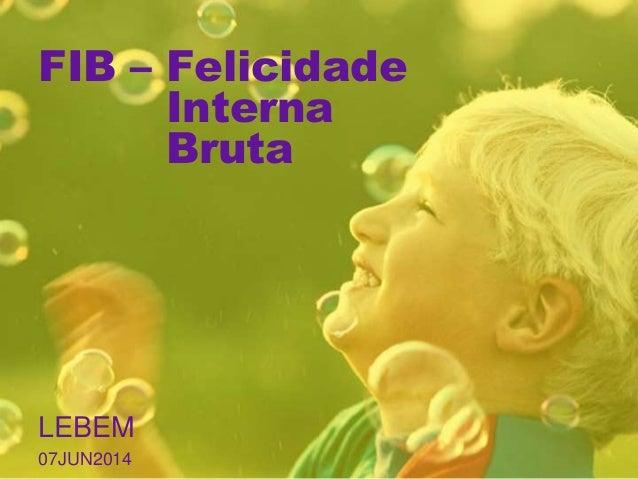 FIB – Felicidade Interna Bruta LEBEM 07JUN2014