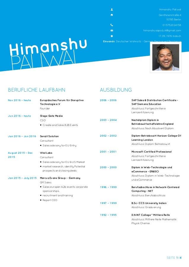 German C:V Lebenslauf Himanshu Paliwal