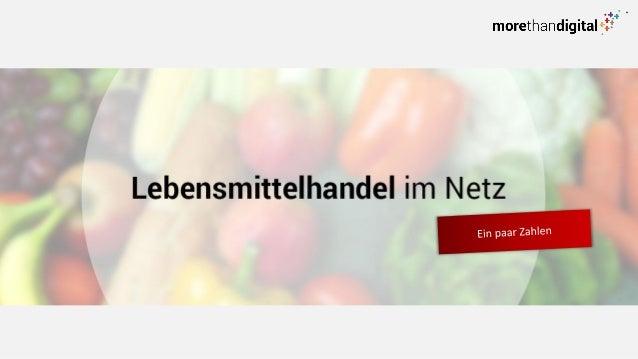 2  Online Lebensmittelhandel in Zahlen.  Onlineumsatz vom deutschen Lebensmittelhandel 2013  971 Mio. EURO  Quelle: Statis...