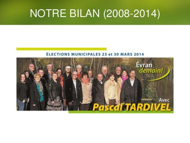 NOTRE BILAN (2008-2014)