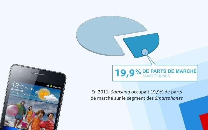 En 2011, Samsung occupait 19,9% de partsde marché sur le segment des Smartphones