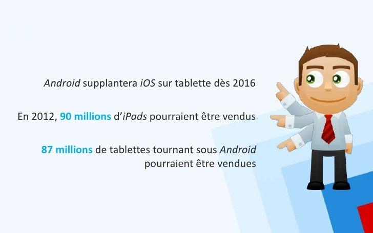Android supplantera iOS sur tablette dès 2016En 2012, 90 millions d'iPads pourraient être vendus     87 millions de tablet...