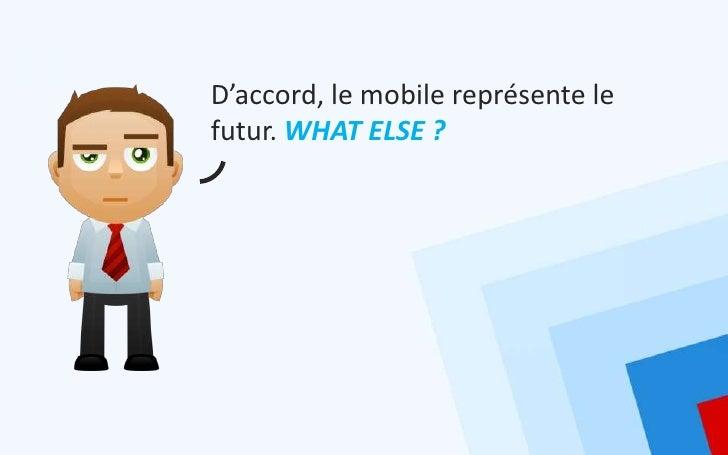 D'accord, le mobile représente lefutur. WHAT ELSE ?