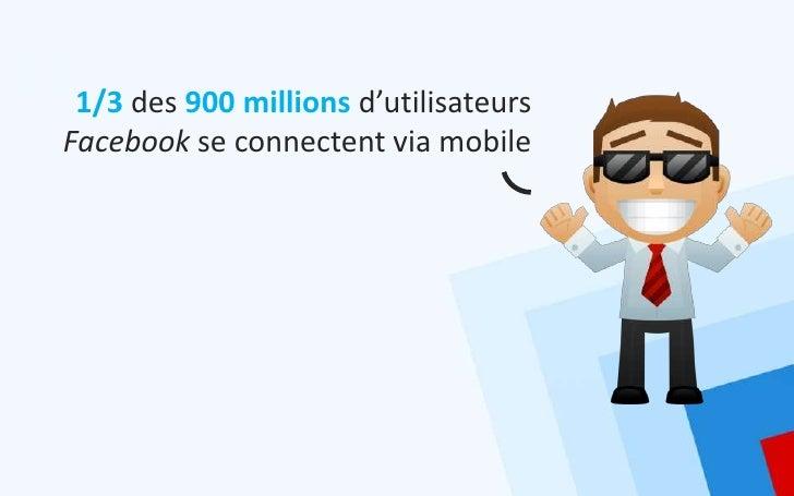 1/3 des 900 millions d'utilisateursFacebook se connectent via mobile