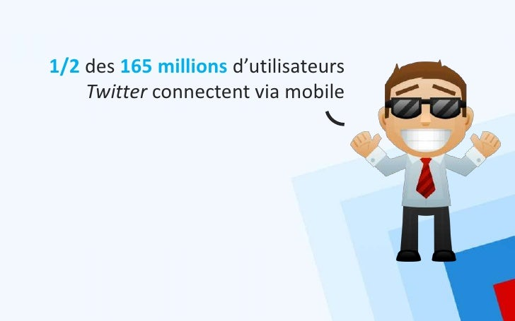 1/2 des 165 millions d'utilisateurs    Twitter connectent via mobile
