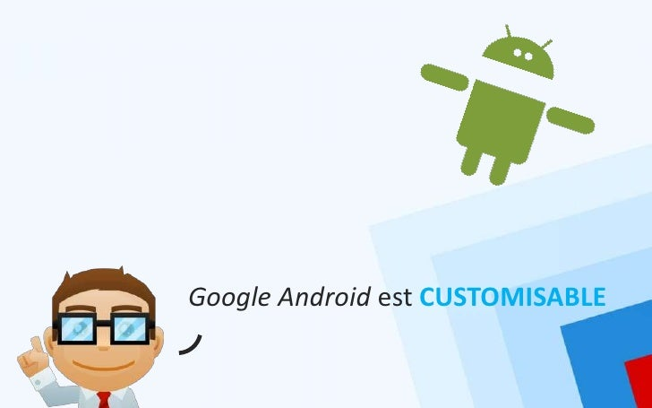 Google Android est CUSTOMISABLE