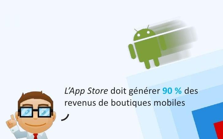 L'App Store doit générer 90 % desrevenus de boutiques mobiles