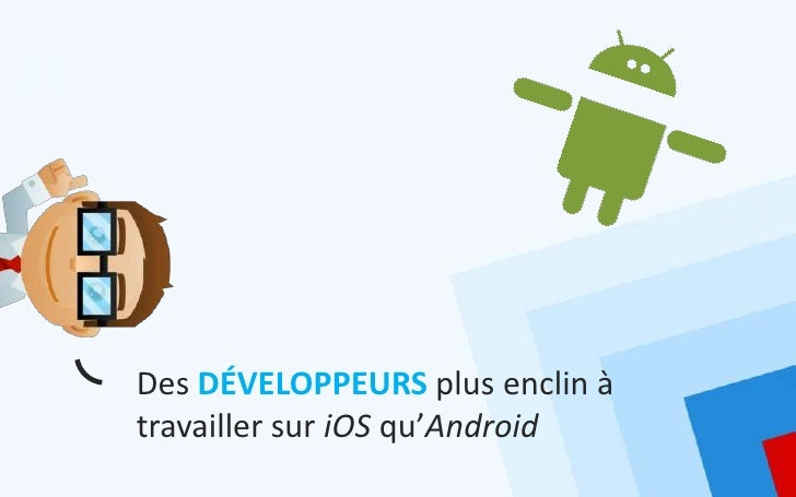 Des DÉVELOPPEURS plus enclin àtravailler sur iOS qu'Android