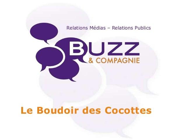 Relations Médias – Relations Publics  Le Boudoir des Cocottes