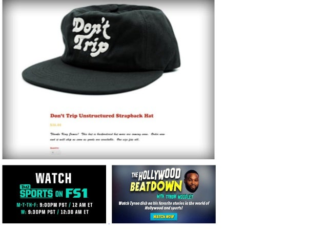 2f7a940421d FANS RUSH TO BUY  DON T TRIP  HATS