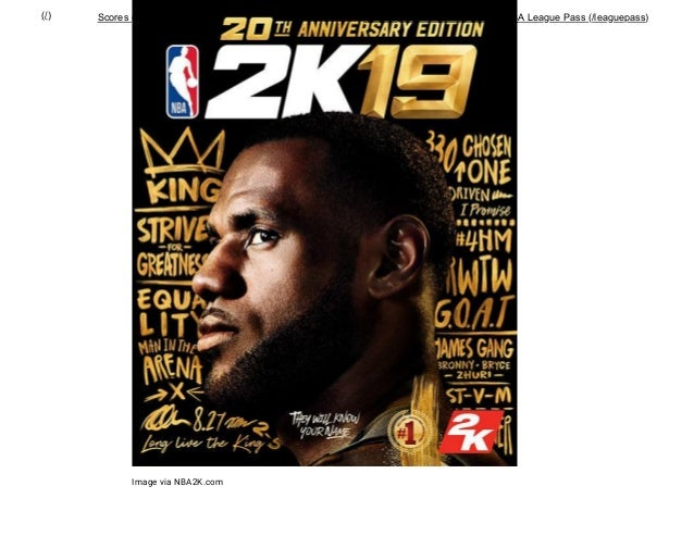 ac3b4dbc6e5 LeBron James named cover athlete for NBA 2K19 Anniversary Edition