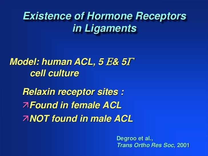 acl in females Predict anterior cruciate ligament injury risk in female athletes: a prospective  study, the  result in such a greater incidence of acl injury in females.