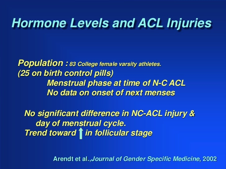 acl injuries in woman The purpose of this article is examine why acl injuries occur at higher rates in  female athletes and what specific neuromuscular training can.