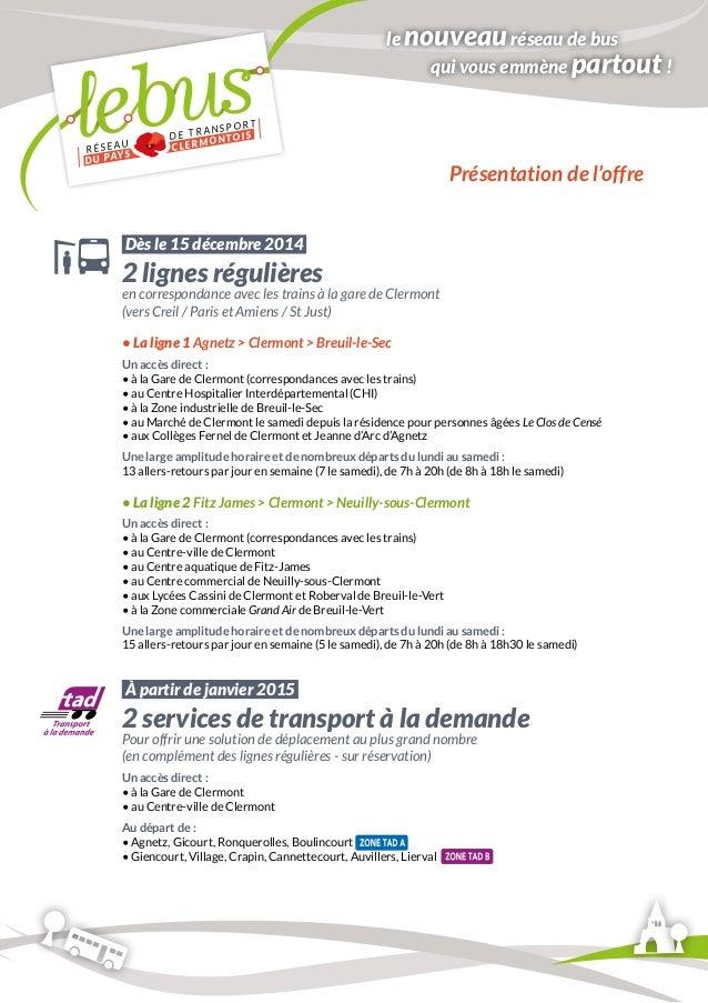RÉSEAU DE TRANSPORT  DU PAYS CLERMONTOIS  Agnetz  Fitz-James  Clermont  Breuil-le-Sec  Breuil-le-Vert  Neuilly-sous-Clermo...