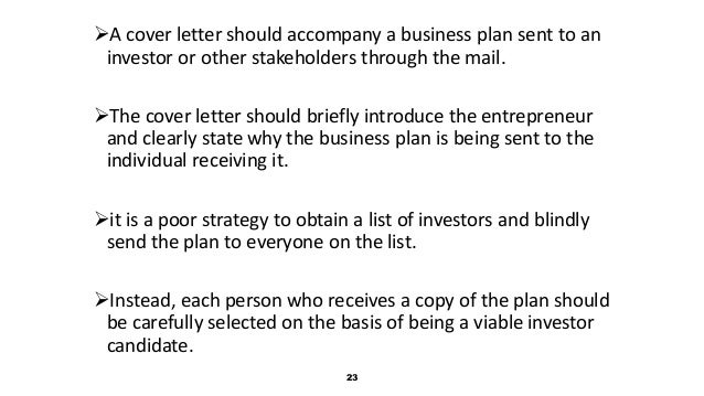 business plan cover letters