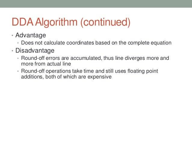 Dda Line Drawing Algorithm Advantages And Disadvantages : Lec rasterization