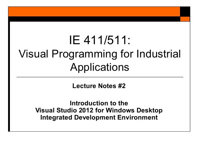 Visual Studio 2012 Course Blackboard TIC