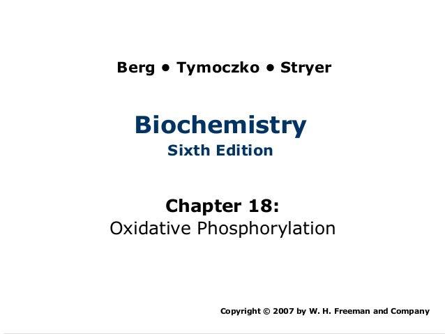 Berg • Tymoczko • Stryer  Biochemistry      Sixth Edition      Chapter 18:Oxidative Phosphorylation            Copyright ©...