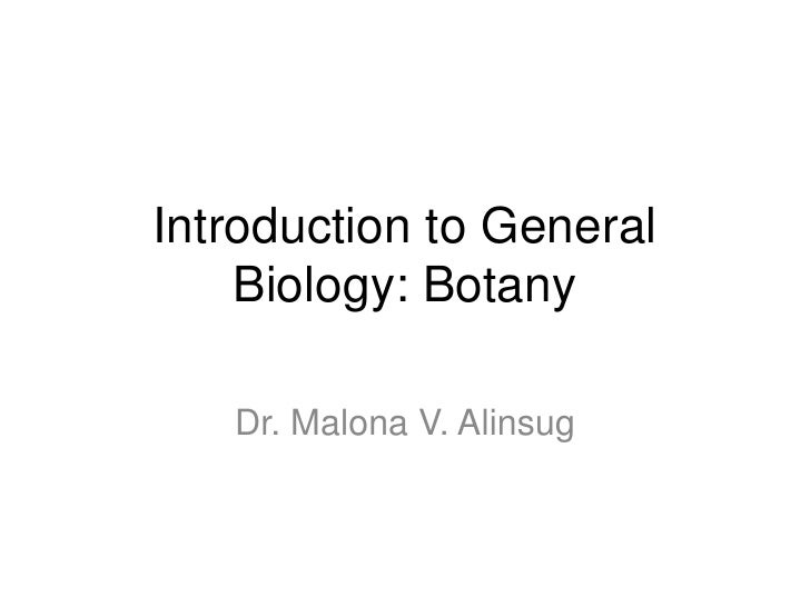 BOTANY LECTURE 1