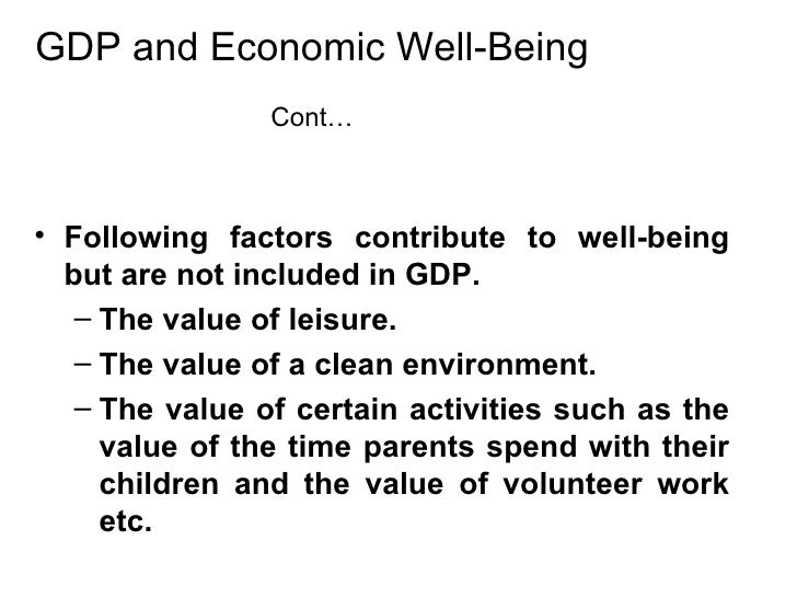 gdp is not a perfect measure Explain why gdp is not a perfect measure of economic well being of a nation by definition the gdp (gross domestic product) is a measure of the income and.