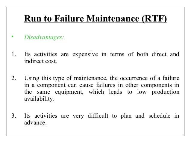 RUN TO FAILURE MAINTENANCE PDF