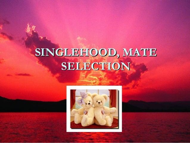 SINGLEHOOD, MATE    SELECTION