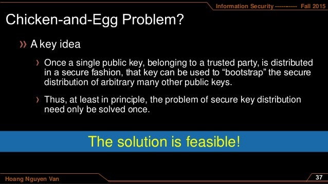 Information Security ----------- Fall 2015 Hoang Nguyen Van A key idea Once a single public key, belonging to a trusted pa...