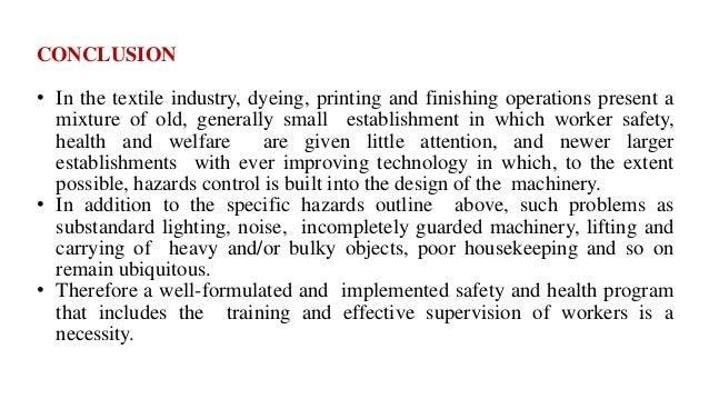 Hazards in Textile processing Industries
