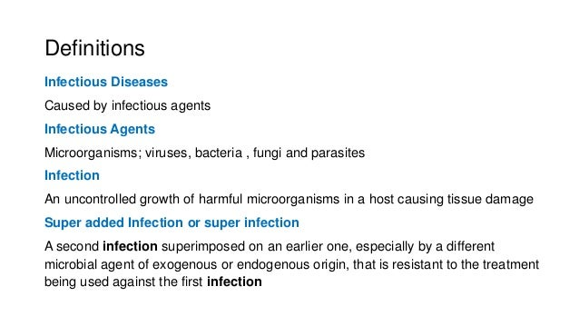 Lec 1 introd to infectious diseases