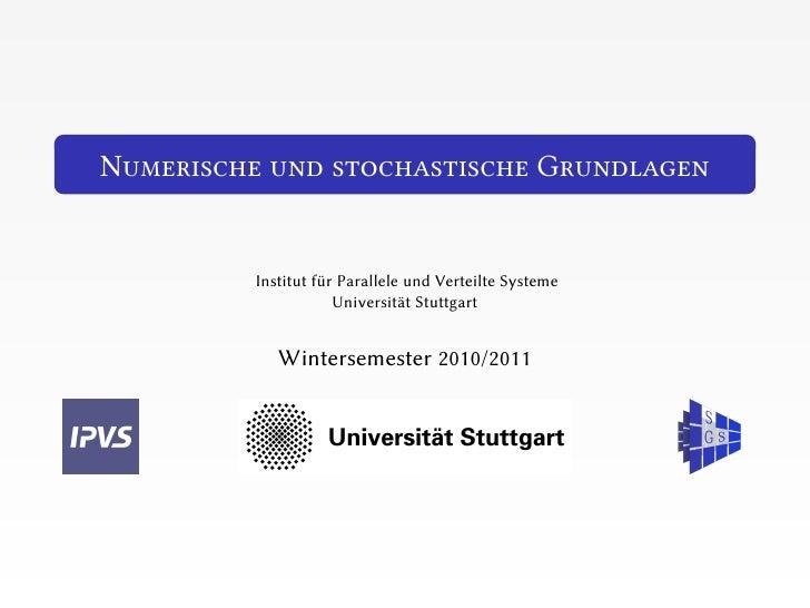 N                                           G    Institut für Parallele und Verteilte Systeme                Universität S...
