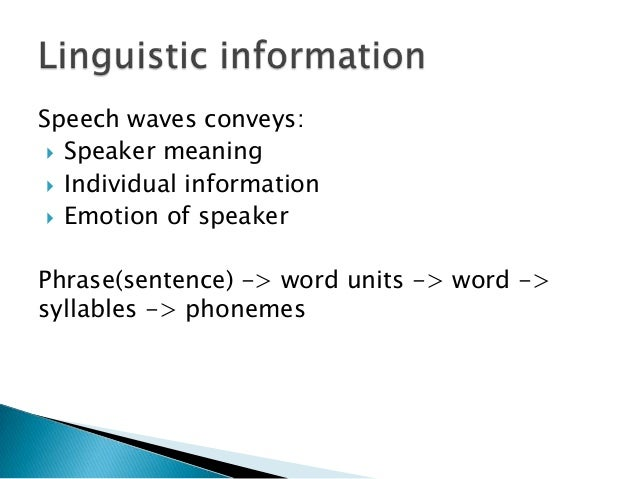 what are the features of a good speech