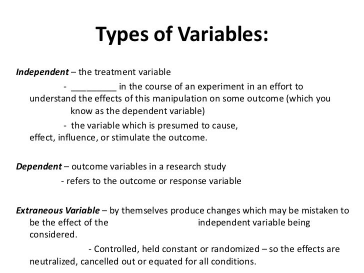 variables in research methodology What are the dependent, independent & extraneous variables explain with suitable examplesposted question is related with - research methodology.