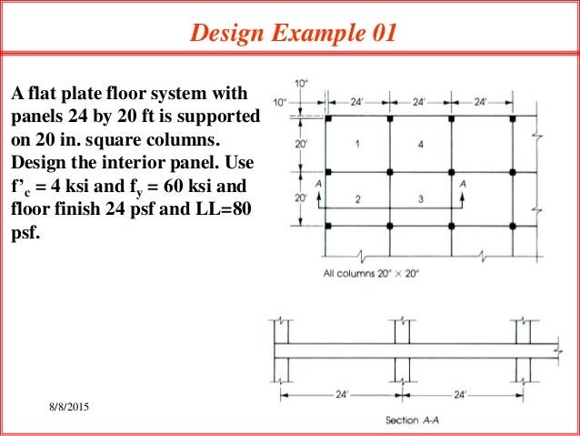 Lec 3 design problem of flat plate slab