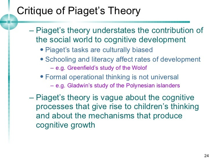 piagets cognitive attachment theory