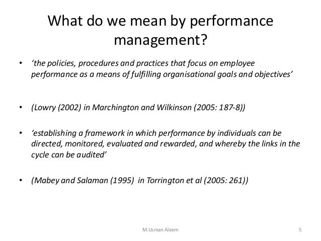 effective performance management with the balanced Effective performance management systems what are the best practices of an effective talent management to the performance management tool namely the balanced.