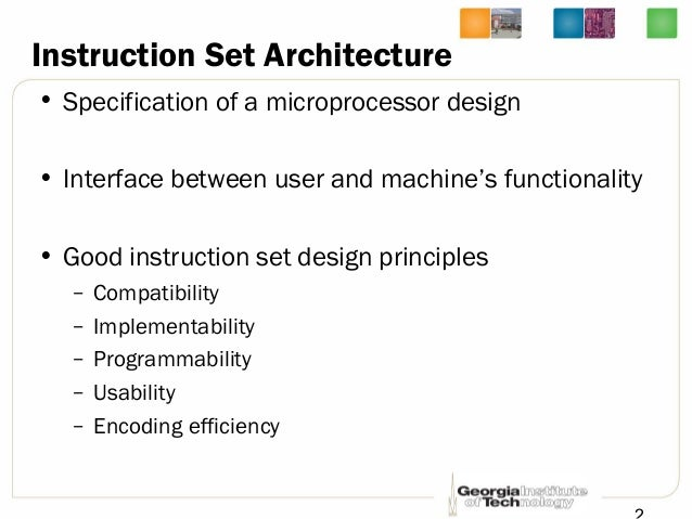 Lec4 Computer Architecture By Hsien Hsin Sean Lee Georgia Tech Isa