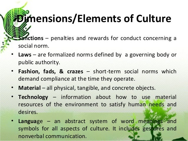 Comparatively Little Concern 8 Dimensions Elements Of Culture E2 80 A2