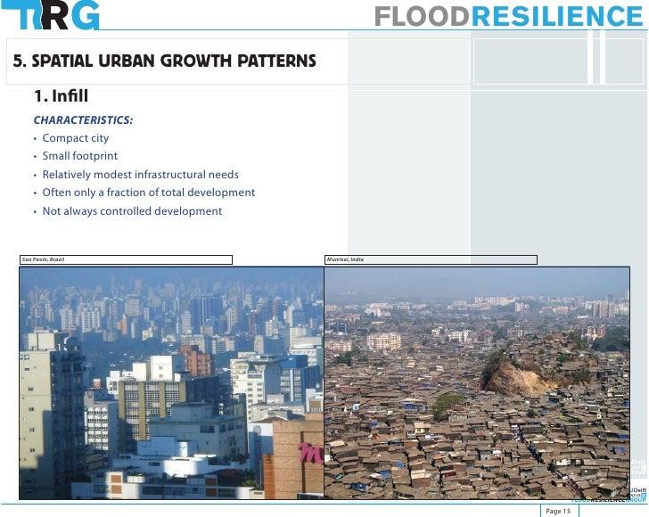 FLOODRESILIENCE 5. SPATIAL URBAN GROWTH PATTERNS     1. Infill     CHARACTERISTICS:     • Compact city     • Small footpri...