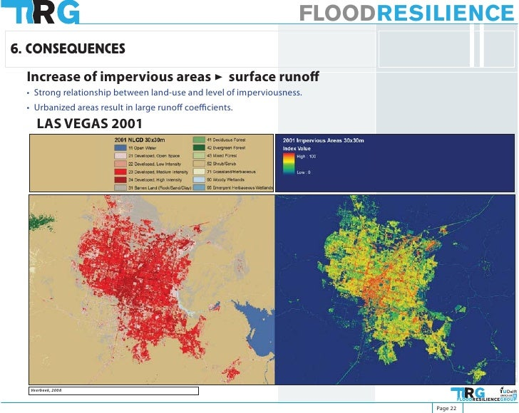 FLOODRESILIENCE 6. CONSEQUENCES   Increase of impervious areas > surface runoff   • Strong relationship between land-use a...