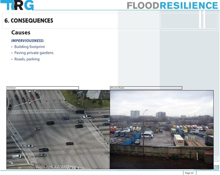 FLOODRESILIENCE 6. CONSEQUENCES    Causes    IMPERVIOUSNESS:    • Building footprint    • Paving private gardens    • Road...