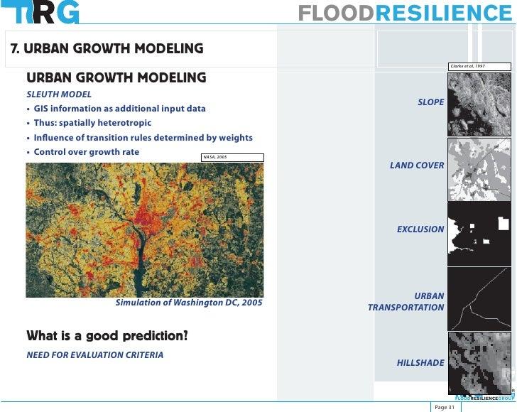 FLOODRESILIENCE 7. URBAN GROWTH MODELING                                                                               Cla...