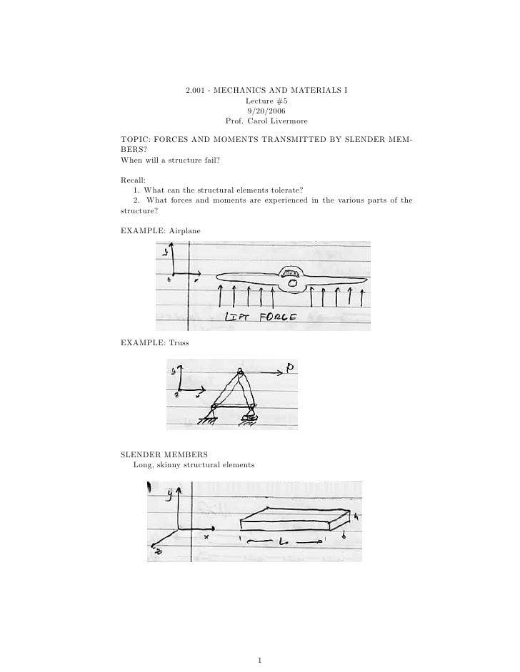 2.001 - MECHANICS AND MATERIALS I                                Lecture #5                                9/20/2006      ...