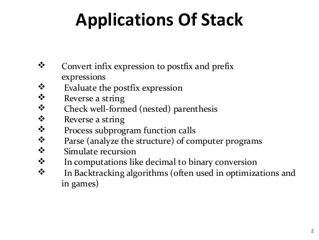 stacks array data structure and stack Implementing stacks array implementation both stacks and queues are like lists (lifo) data structure here are the stack operations.