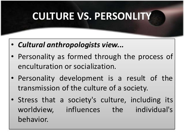 culture and personality development